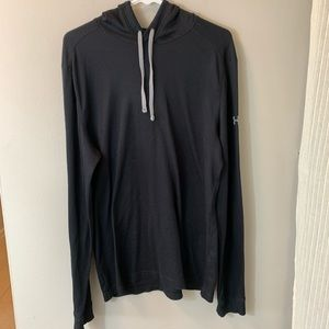 Under Armour : Black Long sleeve hooded Thermal